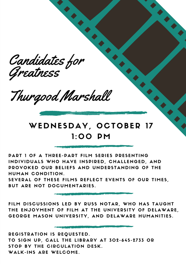 Candidates for Greatness, Session 1 - Thurgood Marshall